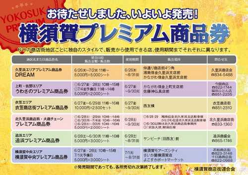 久里浜商店会プレミアム商品券発売 総額600万円
